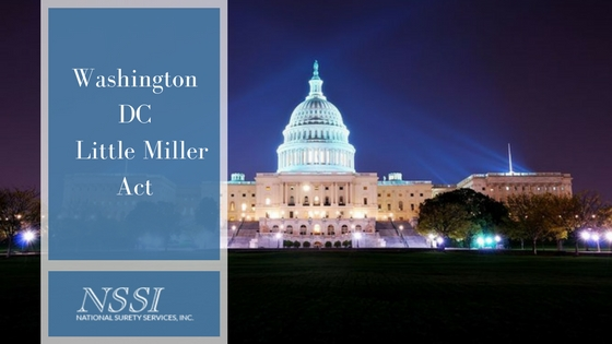 Washington, DC, Little Miller Act