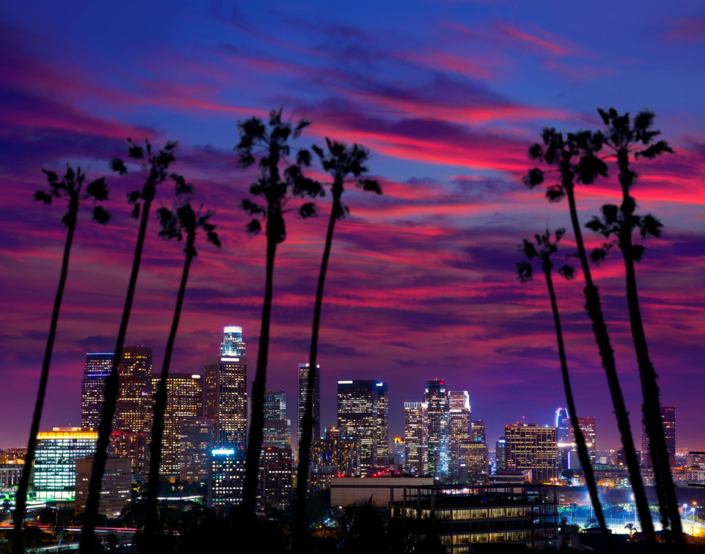 Colorful skyline california