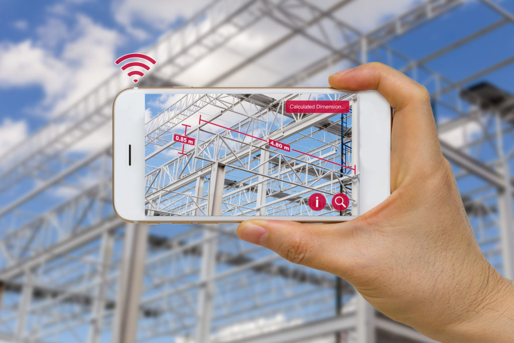 augmented reality in construction industry measuring dimension of steel structure using a smartphone