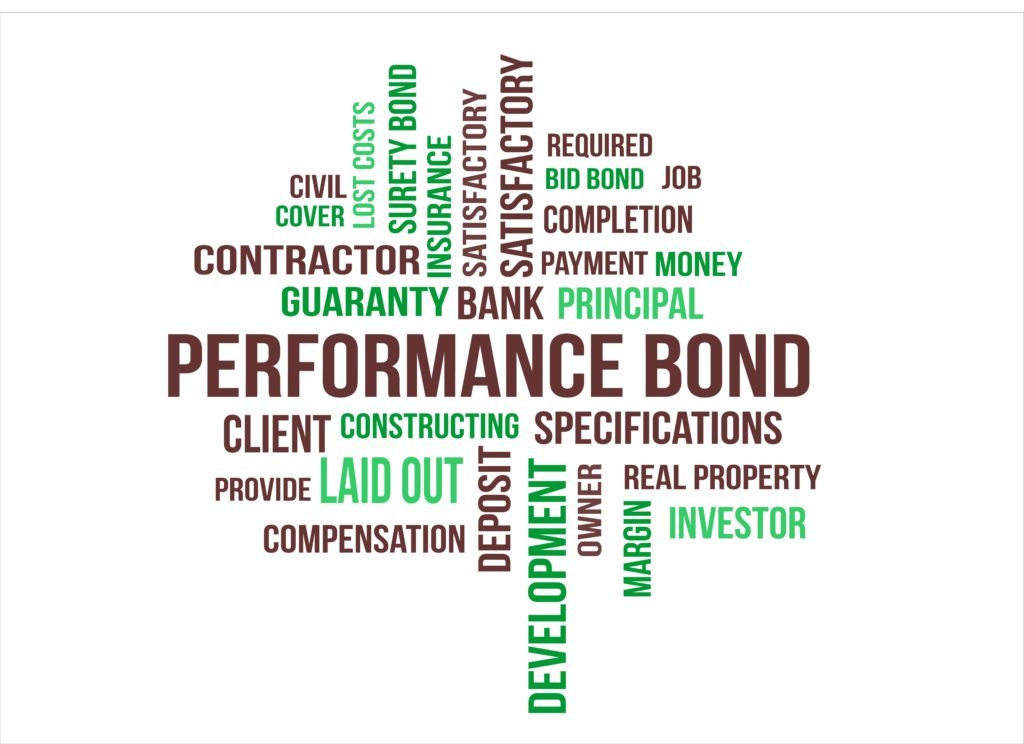 Performance bonds, surety bonds, contractor, construction