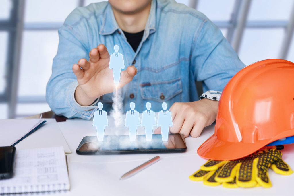 Selecting construction job skilled workers to recruit